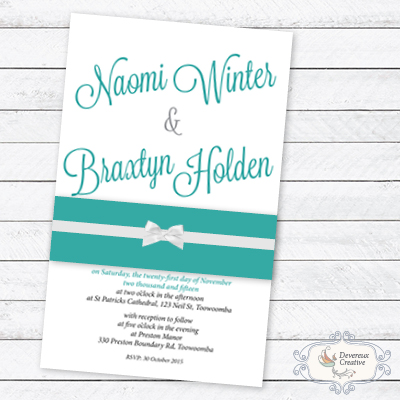 Wedding Invitation Modern with belly band