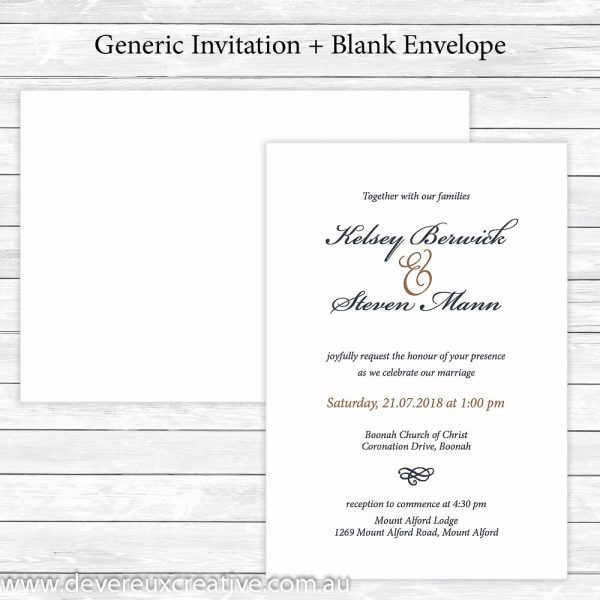 traditional navy and gold wedding invitations generic