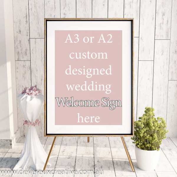 wedding welcome sign - custom design