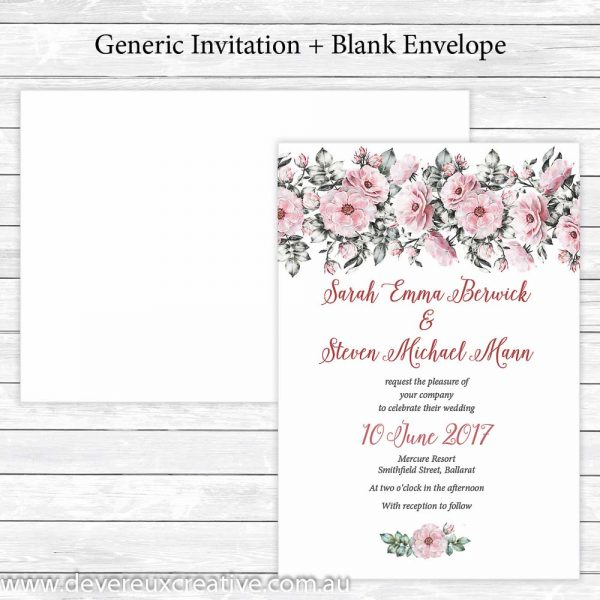 pink peony wedding invitations generic