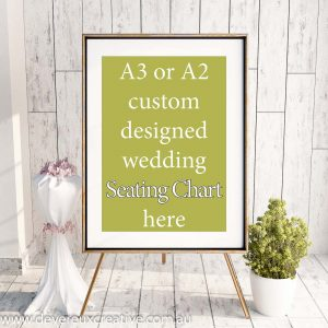 custom designed seating chart
