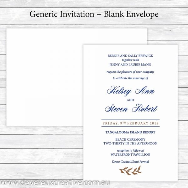 navy and gold wedding invitation generic